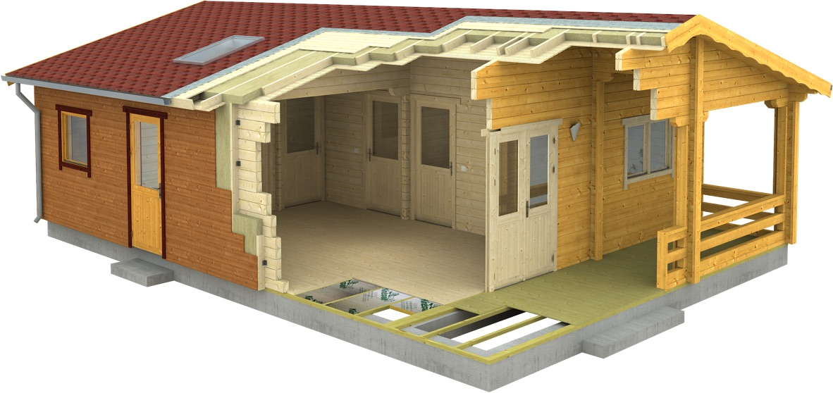 Small Residential Log Cabins to Live in, Log Houses for Sale In